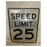 24X30 SPEED LIMIT 25 SIGN
