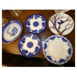 EARLY SIGNED FLOW BLUE CHINA