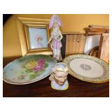 EARLY HAND DECORATED PORC. & CHINA