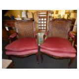 VIEW 2 PARLOR CANE BACK CHAIRS
