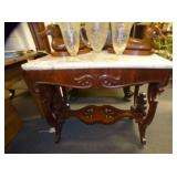 EARLY VICT. MARBLE TOP TABLE