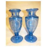 2 1OIN. CUT TO CLEAR BOHEMIAN VASES