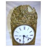 EARLY ORNATE DECORATE FRENCH PORC. FACE CLOCK