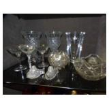 EARLY CRYSTAL/ROSE BOWLS/OTHER