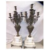 MATCHING 30IN. CANDLE OBRAS W/MARBLE BASE