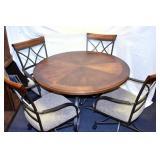 5PC. TABLE SET W/IRON & WOOD