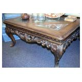 42IN. ORNATE CARVED COFFEE TABLE