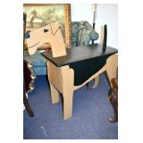 38IN. WOODEN DOG TABLE
