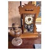 GILBERT KITCHEN CLOCK/ALADDIN OIL LAMP
