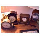 VARIOUS MANTEL CLOCKS