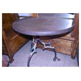 UNUSUAL WESTERN BLACKSMITH MADE GAME TABLE