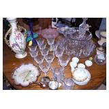 EARLY STEMWARE/POTTERY/OTHER