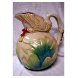 11IN. POTTERY SWAN PITCHER
