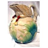 VIEW 3 FRONTSIDE SWAN PITCHER