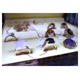 EARLY COSTUME JEWELRY RINGS