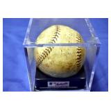 VIEW 2 OTHERSIDE AUTOGRAPHED BABE RUTH BASEBALL