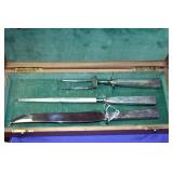 VIEW 2 EARLY STERLING CARVING SET