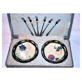 EARLY VICTORIAN RELISH SET W/ CASE