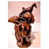 18IN CARVED NATIVE AMERICAN ART