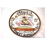 1911 J. PALLEYS 5CENT HAMBONE BUFFALO POTTERY