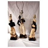BLACK AMERICANA FIGURAL LAMPS
