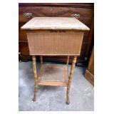BAMBOO & RATTAN SEWING STAND