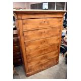 VINTAGE MAPLE TALL CHEST