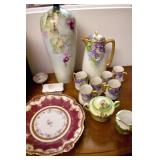 EARLY LIMOGES, HANDPAINTED CHINA