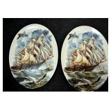 14X22 DECORATED SHIP HOLLAND PLATES