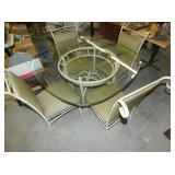 VIEW 2 W/ GLASS TOP TABLE, 4 CHAIRS