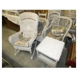 WICKER CHAIRS,TABLES
