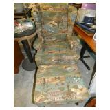 MATCHING WINGBACK CHAIR W/ STOOL