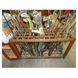 VARIOUS GOLF CLUBS INCLUDING WOODEN SHAFT