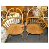 EARLY WINDSOR ARM CHAIRS