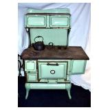 VIEW 2 ORIG. GREEN ENAMEL GREAT CONDITION
