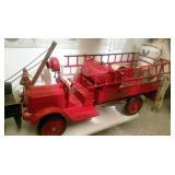 11X28 RESTORED KEYSTONE PUMP FIRE TRUCK