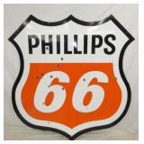 6FT. PORC. PHILLIPS 66 SHEILD SIGN