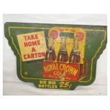 VIEW 2 OTHERSIDE ROYAL CROWN W/ CARTON SWINGER SIGN