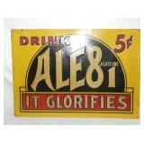 10X14 EMB. 5CENT ALE 81 SIGN