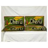 EMB. 16X29 CHER O DRINK SIGNS