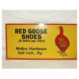 10X20 RED GOOSE SHOES ADV. HARDWARE SIGN