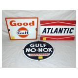 PORC. GULF, ATLANTIC, NO NOX PUMP PLATES