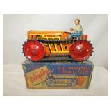 9IN MARX CATERPILLAR CLIMBING TRACTOR W/ DRIVER