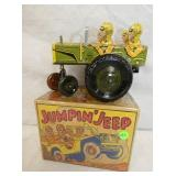 """6IN OLD STOCK MARX """"JUMPING JEEP"""" #22C"""