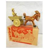 9IN MARX BALKY MULE W/ CART & DRIVER