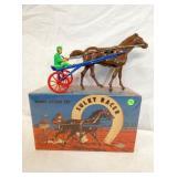 SANDERS RACE HORSE SULKY W/JOCKEY