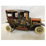 7IN MARX WINDUP OLD JALOPY W/ DRIVER