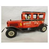 9IN MARX FRICTION OLD JALOPY CAMPUS EXPRESS W/ DRIVER