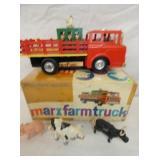 VIEW 3 OTHERSIDE MARX FARM TRUCK W/ BOX, ANIMALS