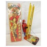 12IN MARX WINDUP CLIMBING FIREMAN W/ BOX